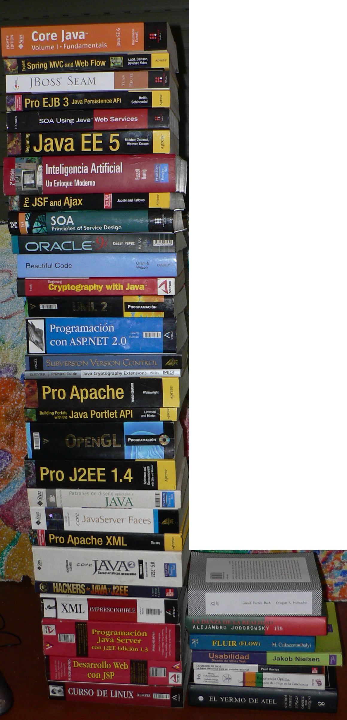 Libros de programación Java y su consorte