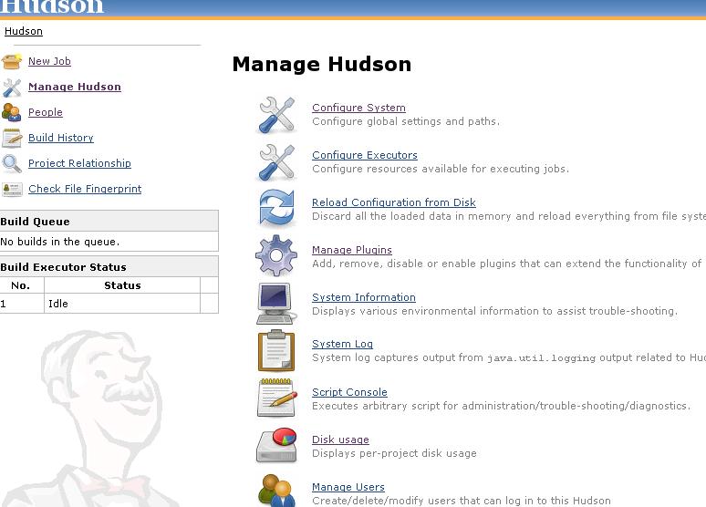 Consola de administración de Hudson