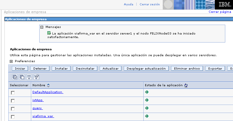 Viafirma en websphere