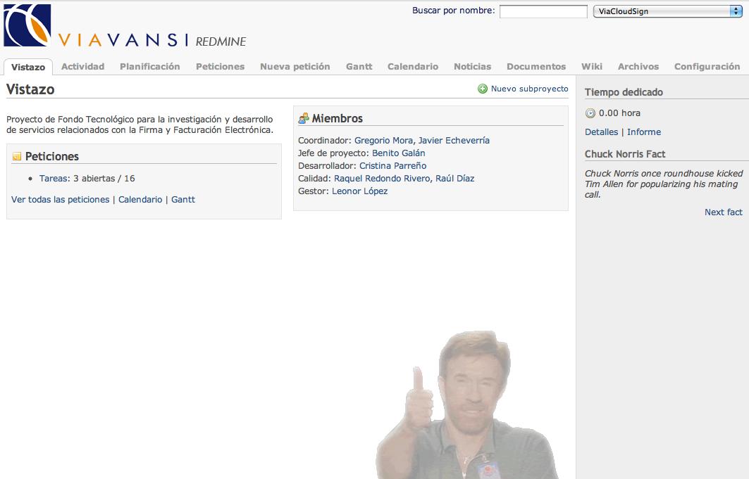 Redmine Chuck Norris screenshot
