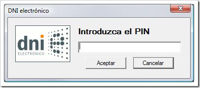 PIN DNI electrónico