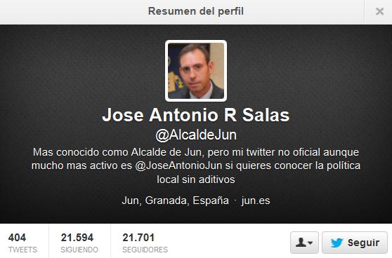 Twitter del Alcalde de Jun