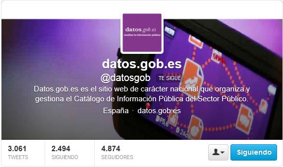 Cuenta de twitter de datos.gob