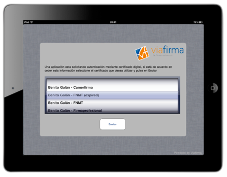 viafirma mobile en tablet