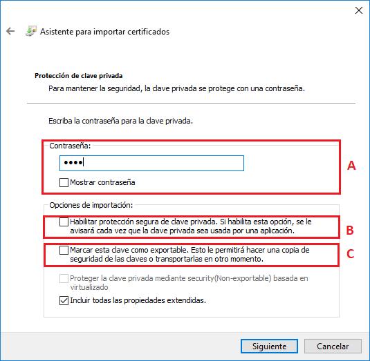 certificado digital Windows