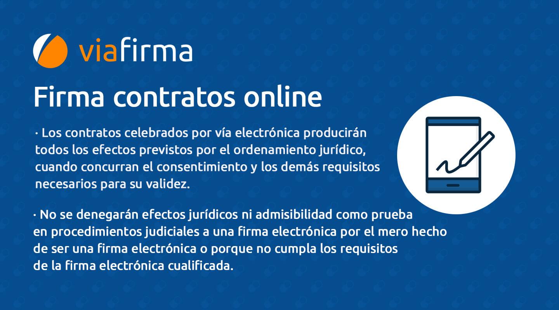 Legalidad de firma de contratos online