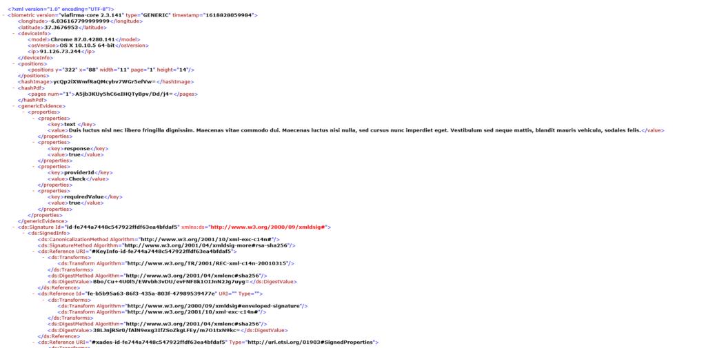 XML file on check box