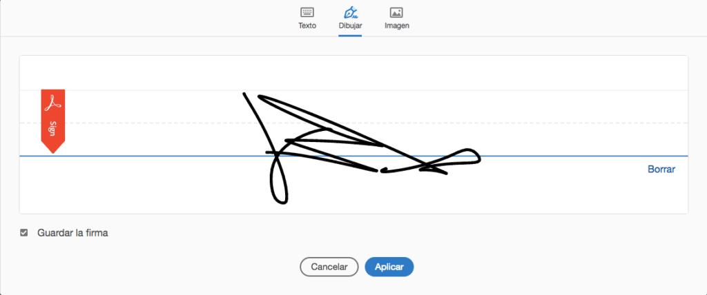 Captura de nuestra firma con Adobe Acrobat