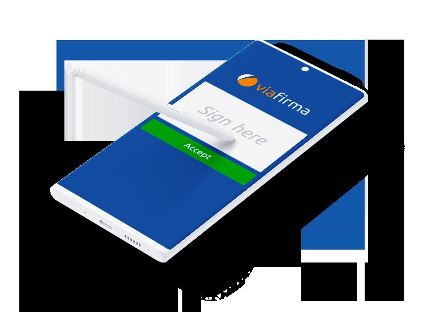 Digital signature using a smartphone with Viafirma