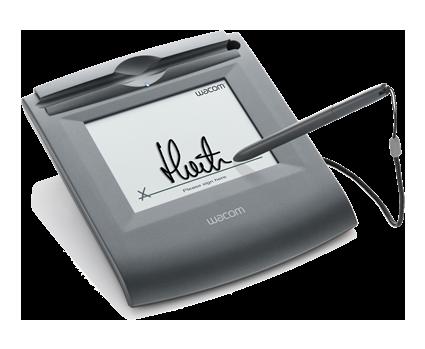 Tabletas de firma Wacom para firma biométrica