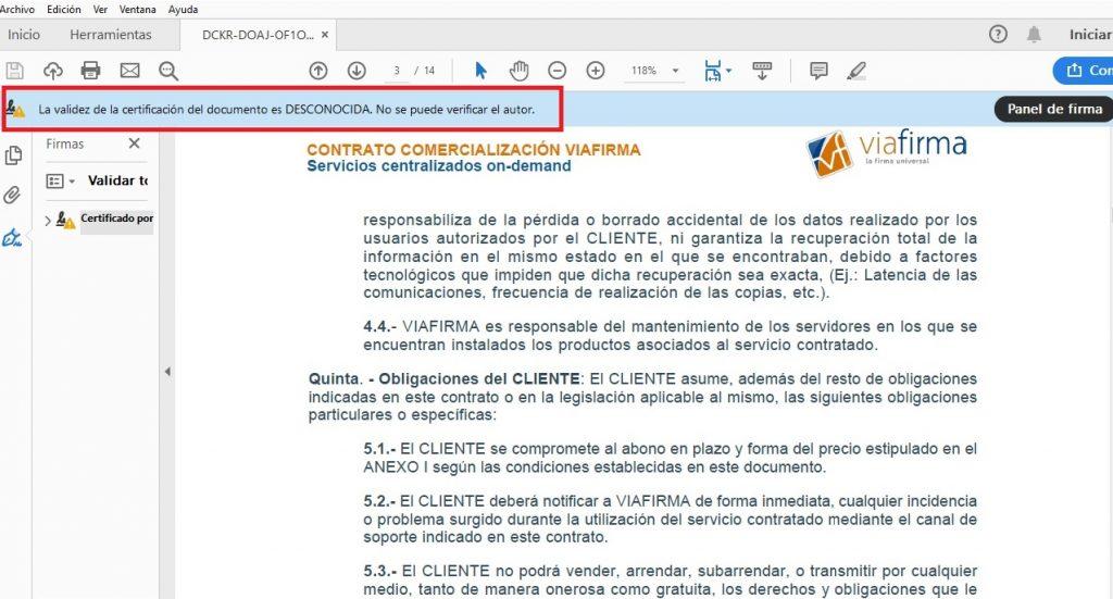 PDF firmado que no reconoce al PSC