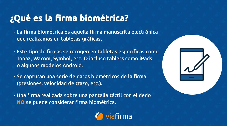 Definición firma biométrica