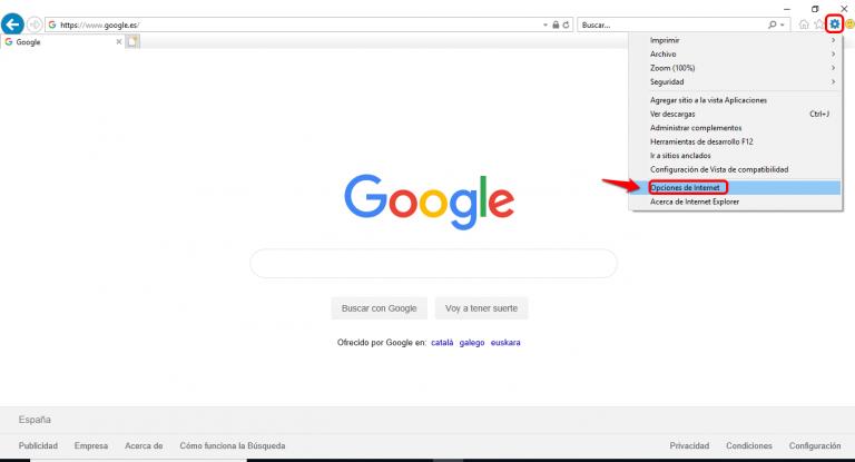 Captura de Google de herramientas