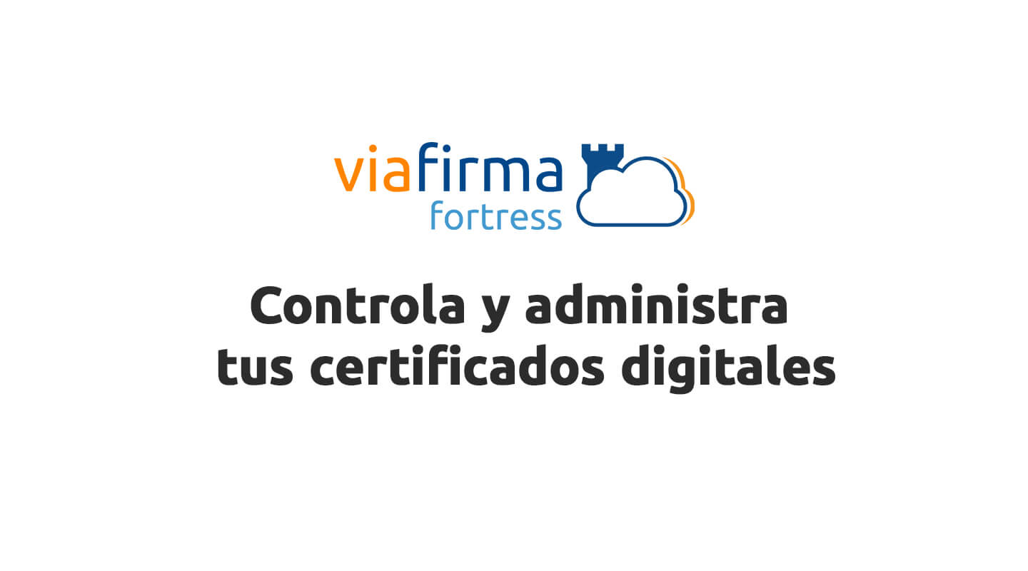 Portada del video de control certificado digital