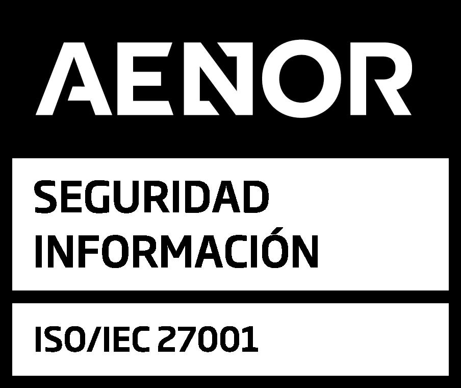 Logo de Aenor 27001