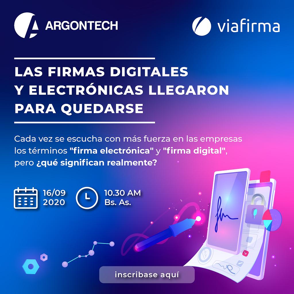 Webinar Viafirma Argontech